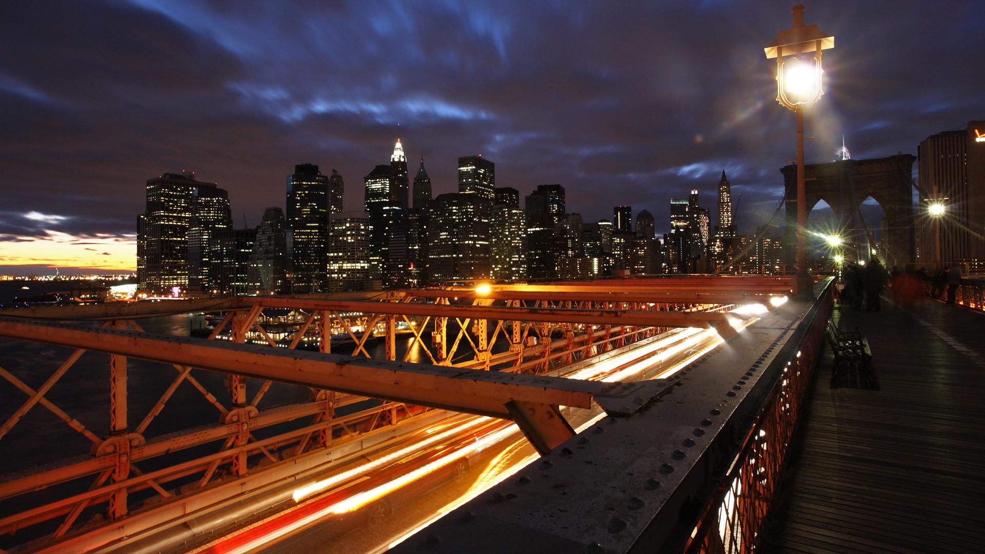 DARBORD - NYC - Brooklyn Bridge by night